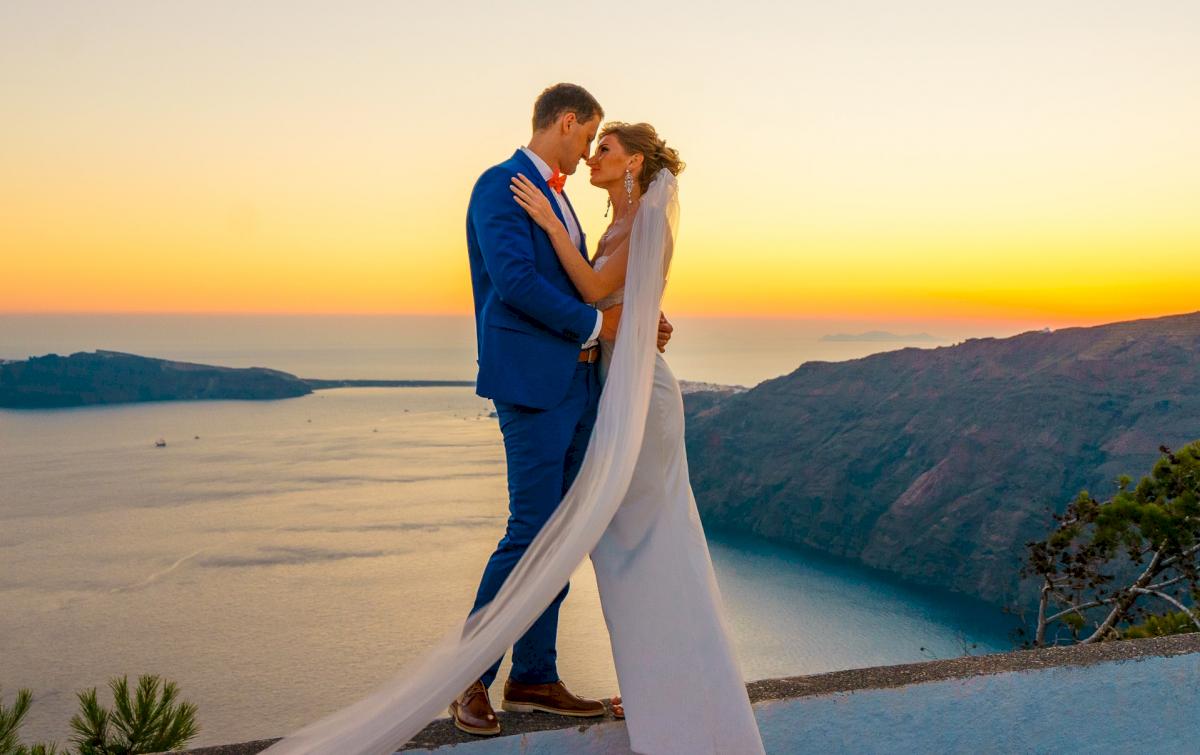 Алена и Рома: свадьба на санторини, свадебное агентство Julia Veselova - Фото 16