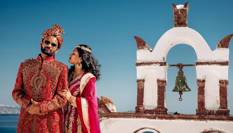Deni and Kanshu: свадьба на санторини, свадебное агентство Julia Veselova - Фото 1