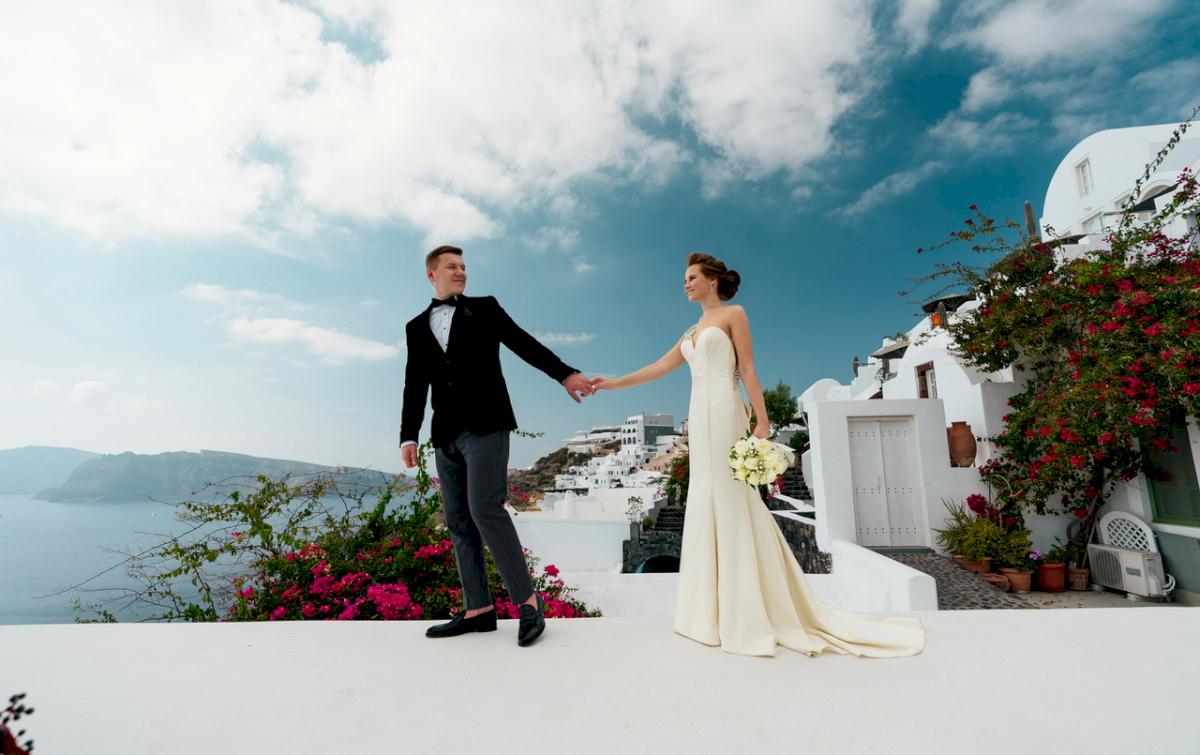 Любовь и Антон: свадьба на санторини, свадебное агентство Julia Veselova - Фото 4
