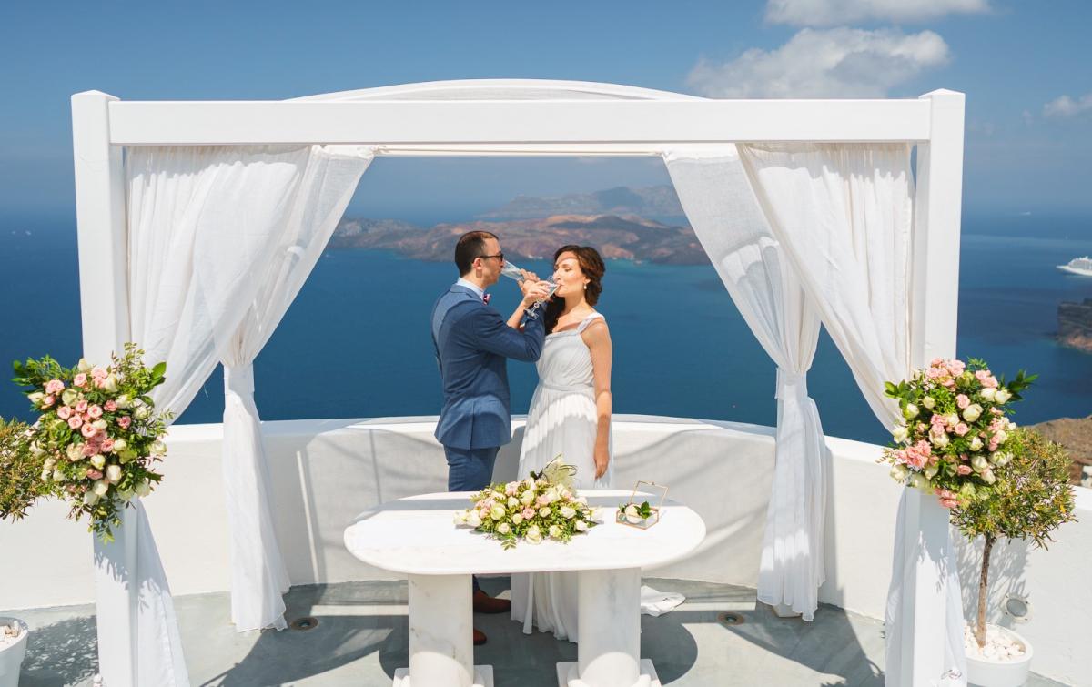 Ирина и Эдуард: свадьба на санторини, свадебное агентство Julia Veselova - Фото 3