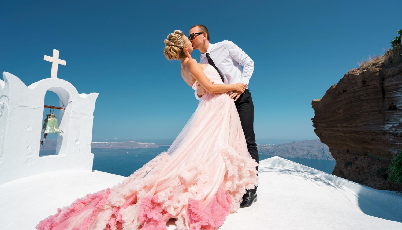 Инна и Сергей: свадьба на санторини, свадебное агентство Julia Veselova - Фото 15