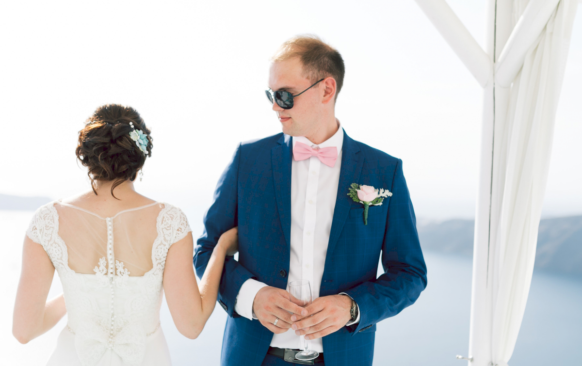 Татьяна и Леонид: свадьба на санторини, свадебное агентство Julia Veselova - Фото 8