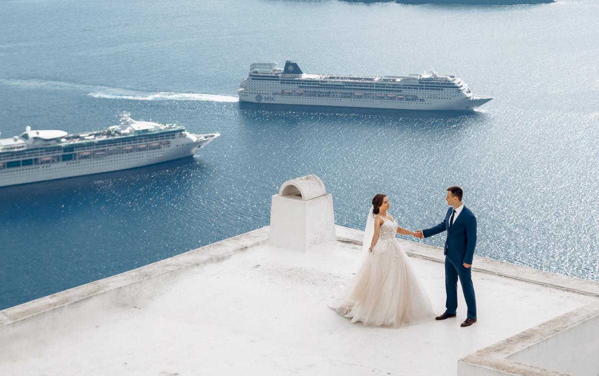 Юлия и Ярослав: свадьба на санторини, свадебное агентство Julia Veselova - Фото 9