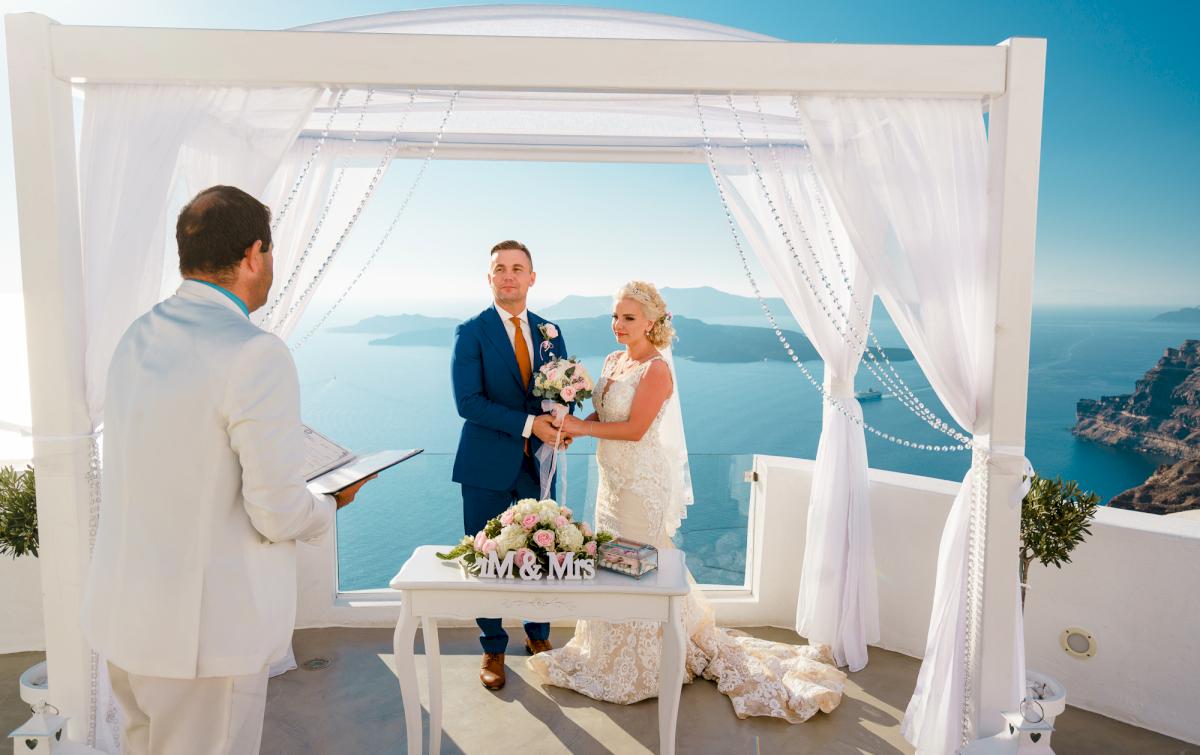 Екатерина и Андрей: свадьба на санторини, свадебное агентство Julia Veselova - Фото 1