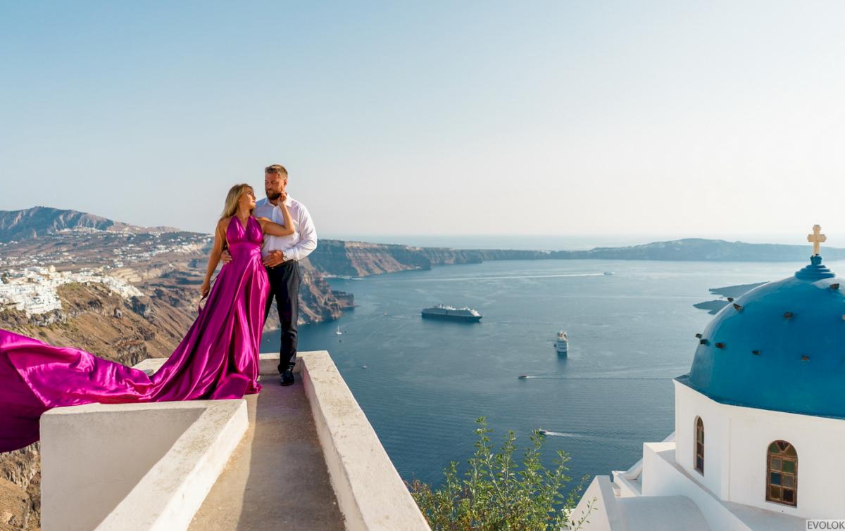 Елена и Виталик: свадьба на санторини, свадебное агентство Julia Veselova - Фото 5