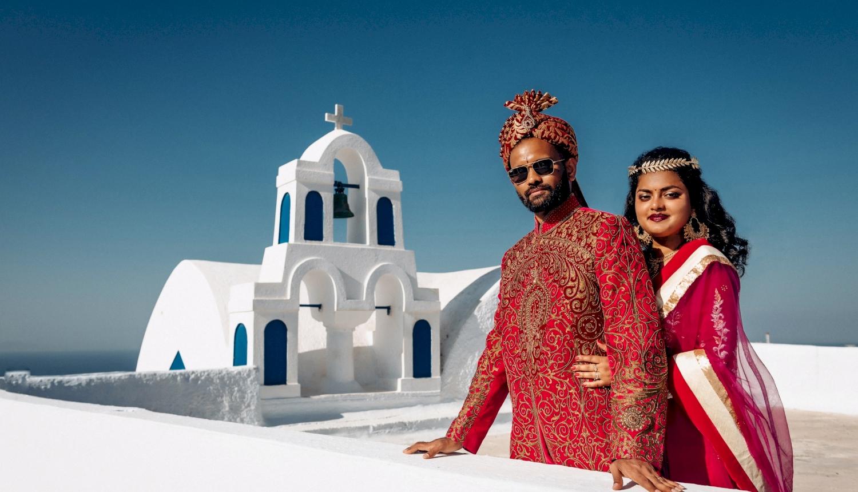 Deni and Kanshu: свадьба на санторини, свадебное агентство Julia Veselova - Фото 4