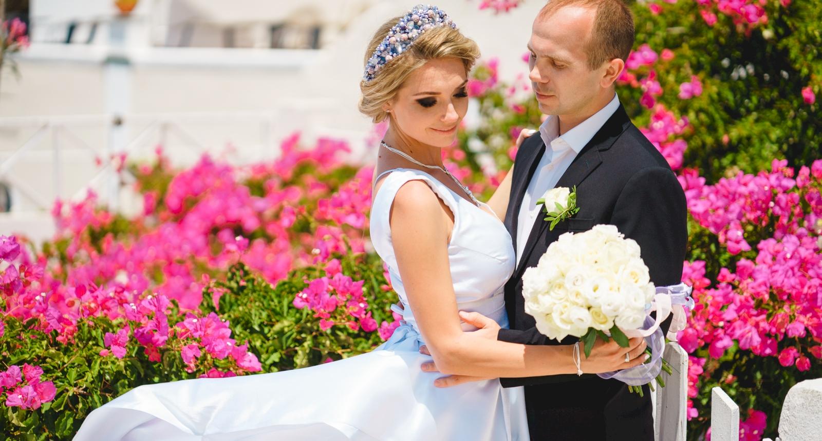 Елена и Олег: свадьба на санторини, свадебное агентство Julia Veselova - Фото 2