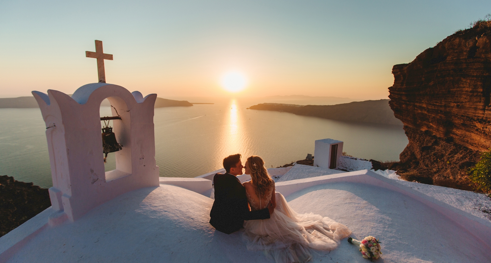 Анжелика и Роман: свадьба на санторини, свадебное агентство Julia Veselova - Фото 3