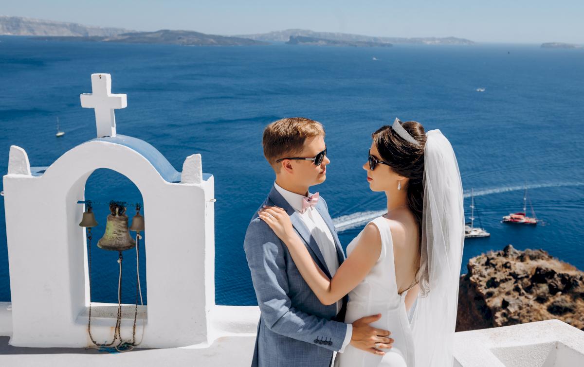 Алексей и Ольга: свадьба на санторини, свадебное агентство Julia Veselova - Фото 15