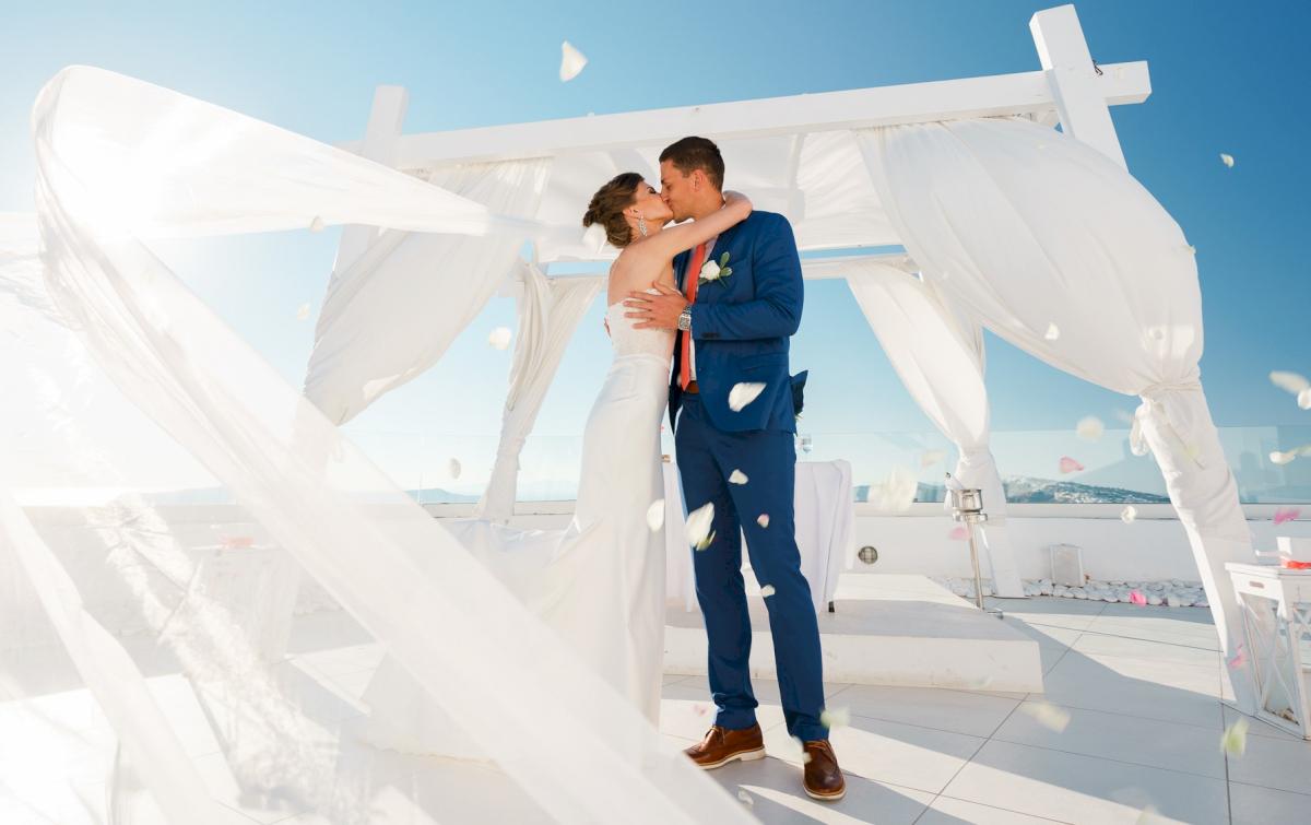 Алена и Рома: свадьба на санторини, свадебное агентство Julia Veselova - Фото 2