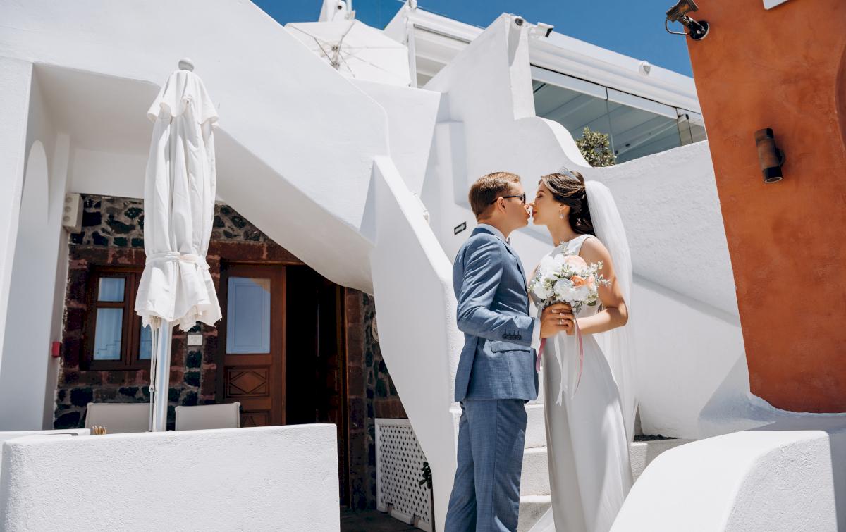 Алексей и Ольга: свадьба на санторини, свадебное агентство Julia Veselova - Фото 3