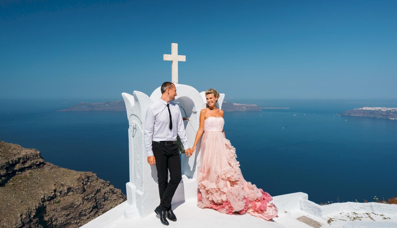 Инна и Сергей: свадьба на санторини, свадебное агентство Julia Veselova - Фото 13