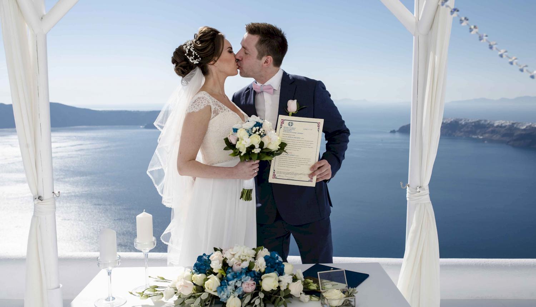 Наталья и Сергей: свадьба на санторини, свадебное агентство Julia Veselova - Фото 12