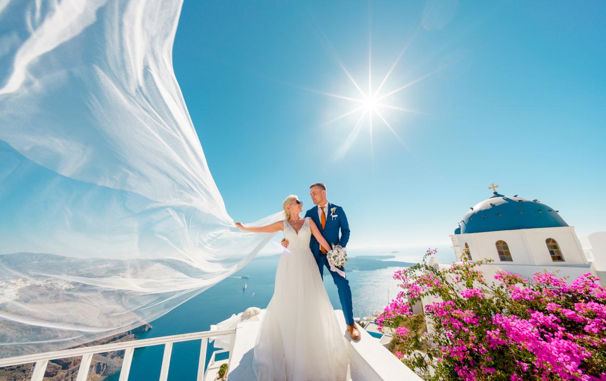 Екатерина и Андрей: свадьба на санторини, свадебное агентство Julia Veselova - Фото 15