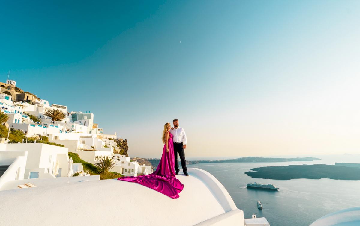 Елена и Виталик: свадьба на санторини, свадебное агентство Julia Veselova - Фото 15