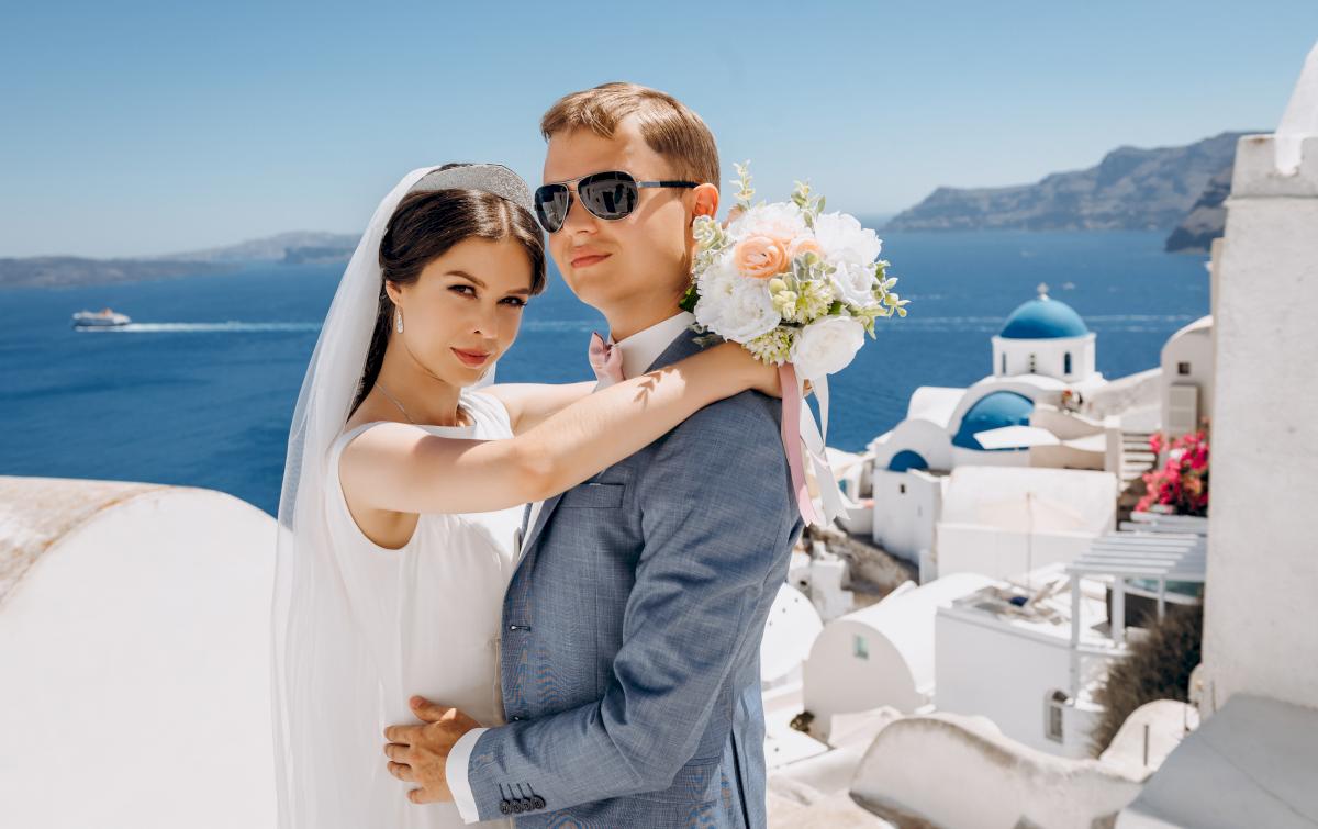 Алексей и Ольга: свадьба на санторини, свадебное агентство Julia Veselova - Фото 10