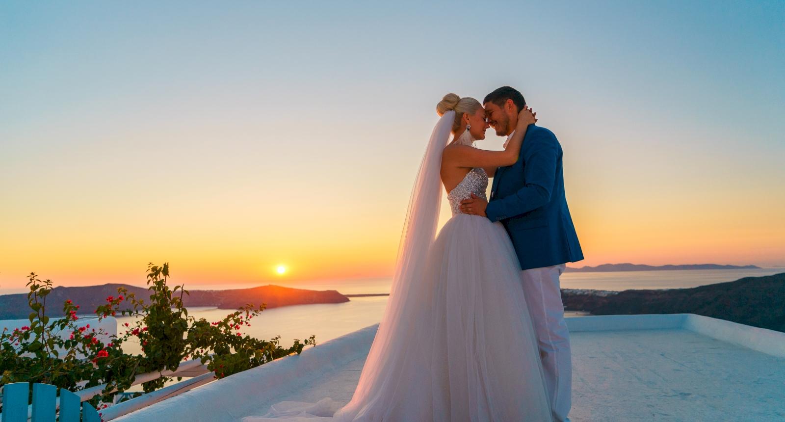 Екатерина и Дмитрий: свадьба на санторини, свадебное агентство Julia Veselova - Фото 9