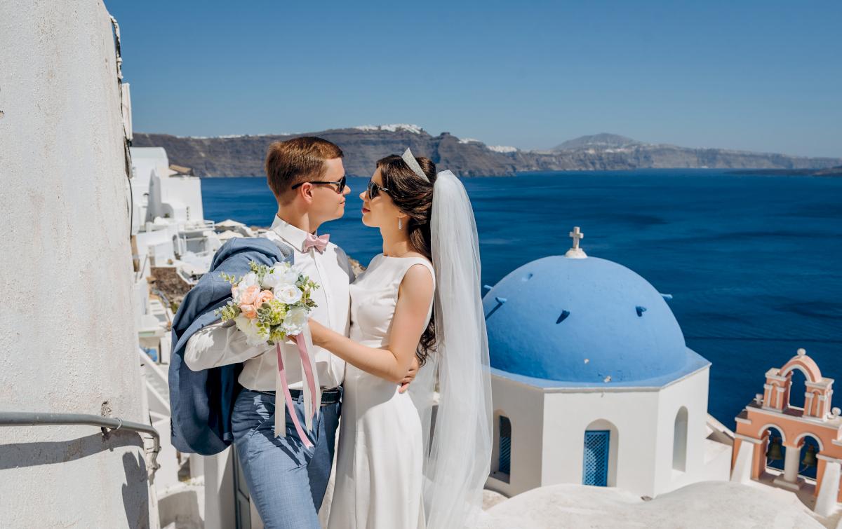 Алексей и Ольга: свадьба на санторини, свадебное агентство Julia Veselova - Фото 17