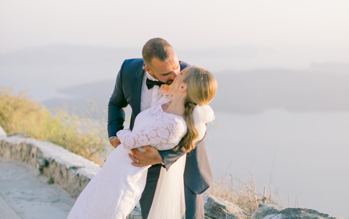Алина и Cалех: свадьба на санторини, свадебное агентство Julia Veselova - Фото 1