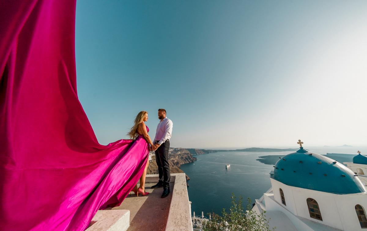 Елена и Виталик: свадьба на санторини, свадебное агентство Julia Veselova - Фото 13