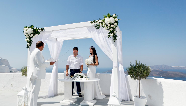 Зарина и Ованес: свадьба на санторини, свадебное агентство Julia Veselova - Фото 1