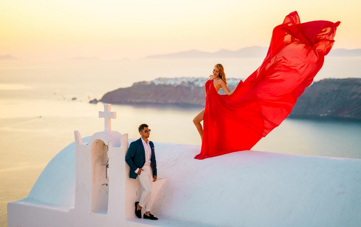 Фредди и Маргарет: свадьба на санторини, свадебное агентство Julia Veselova - Фото 2