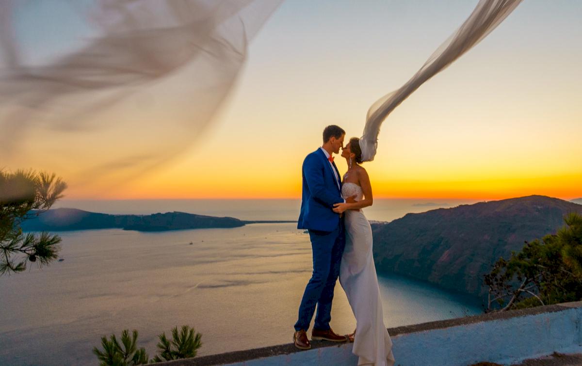 Алена и Рома: свадьба на санторини, свадебное агентство Julia Veselova - Фото 17
