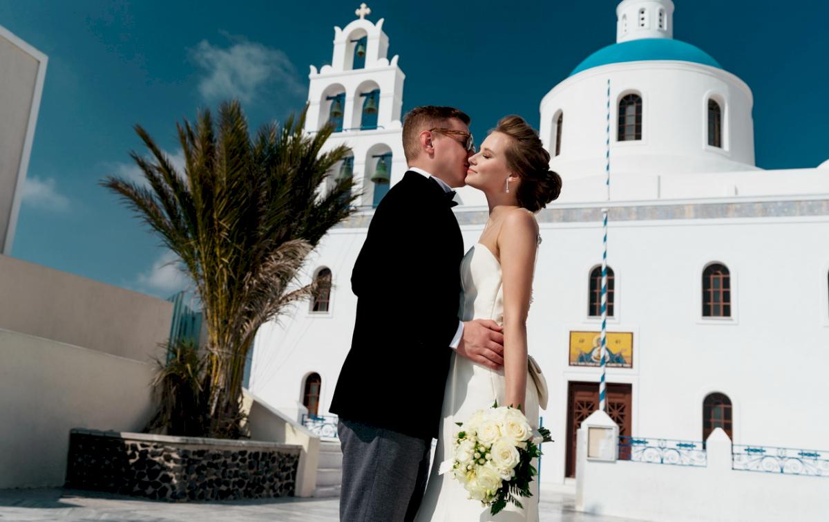 Любовь и Антон: свадьба на санторини, свадебное агентство Julia Veselova - Фото 12