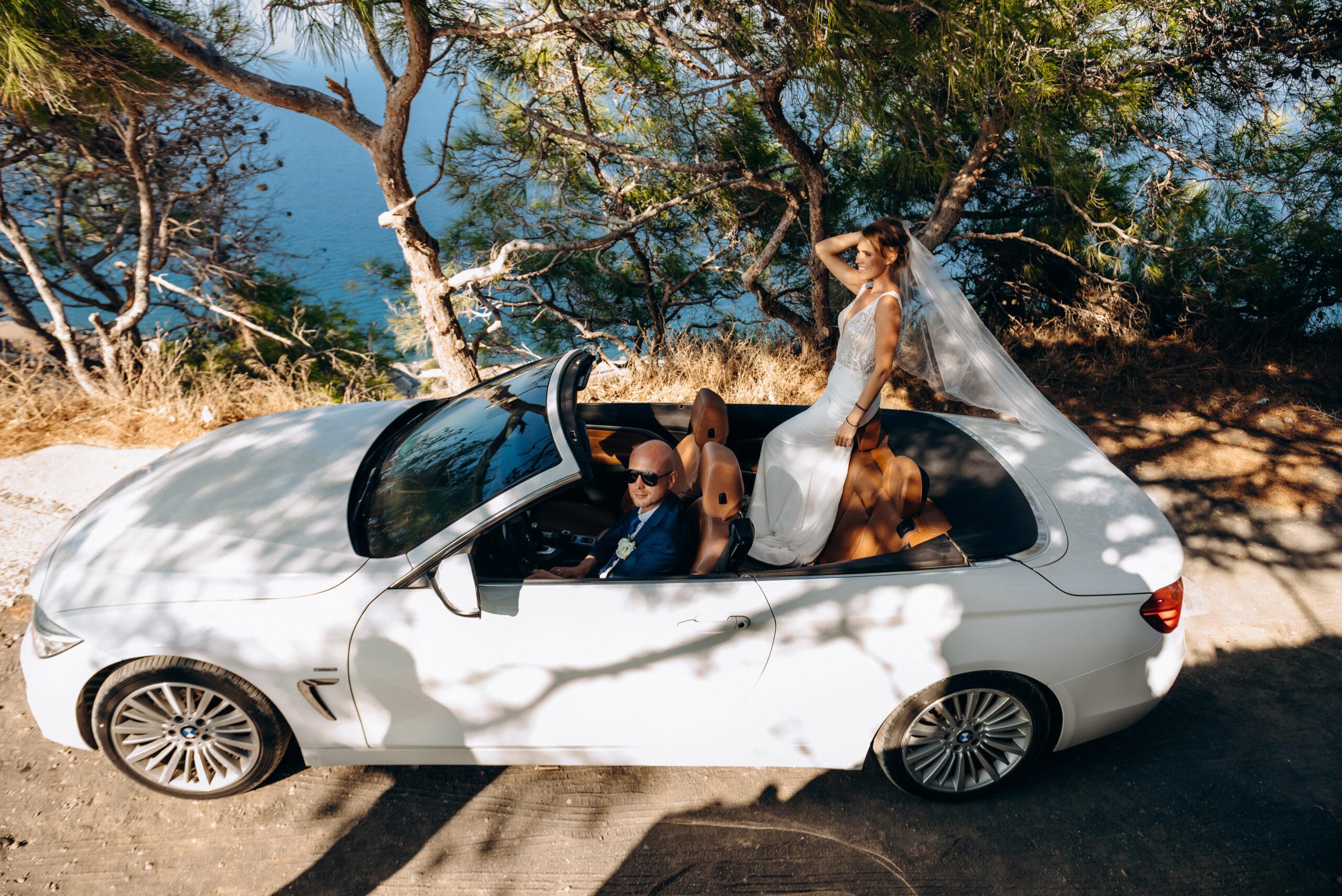 Аренда автомобилей: свадьба на санторини, свадебное агентство Julia Veselova - Фото 2