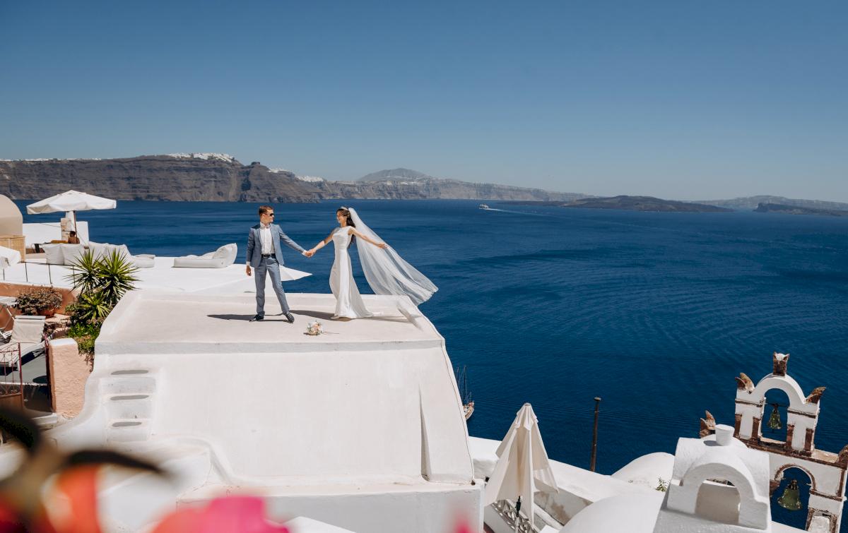 Алексей и Ольга: свадьба на санторини, свадебное агентство Julia Veselova - Фото 14