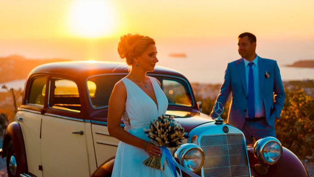 Нужно ли заказывать авто для жениха и невесты на Санторини?: свадьба на санторини, свадебное агентство Julia Veselova