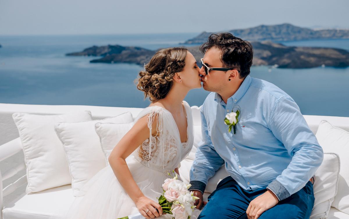 Анна и Андрей: свадьба на санторини, свадебное агентство Julia Veselova - Фото 12