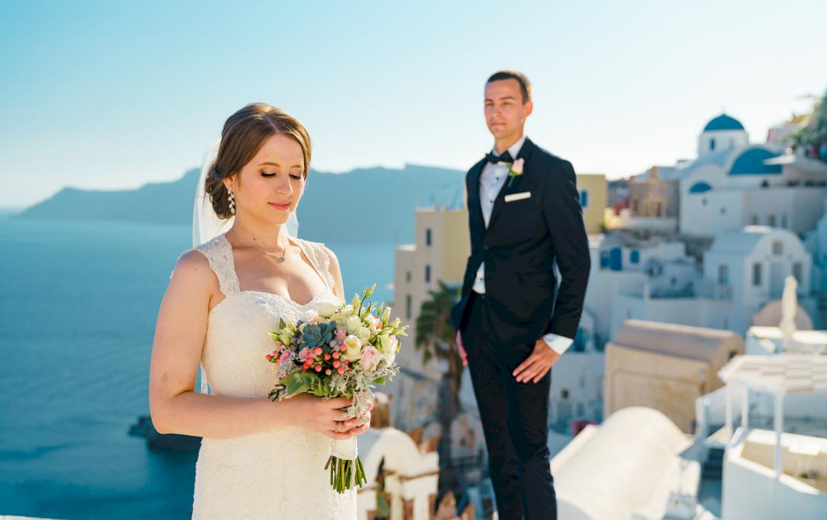 Виолетта и Александр: свадьба на санторини, свадебное агентство Julia Veselova - Фото 2