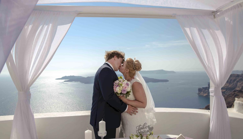 Дарья и Яков: свадьба на санторини, свадебное агентство Julia Veselova - Фото 12