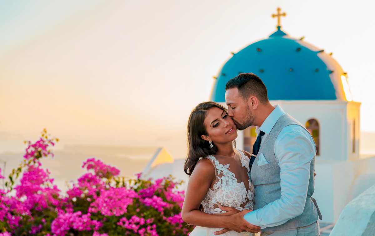 Яна и Рафаэль: свадьба на санторини, свадебное агентство Julia Veselova - Фото 6