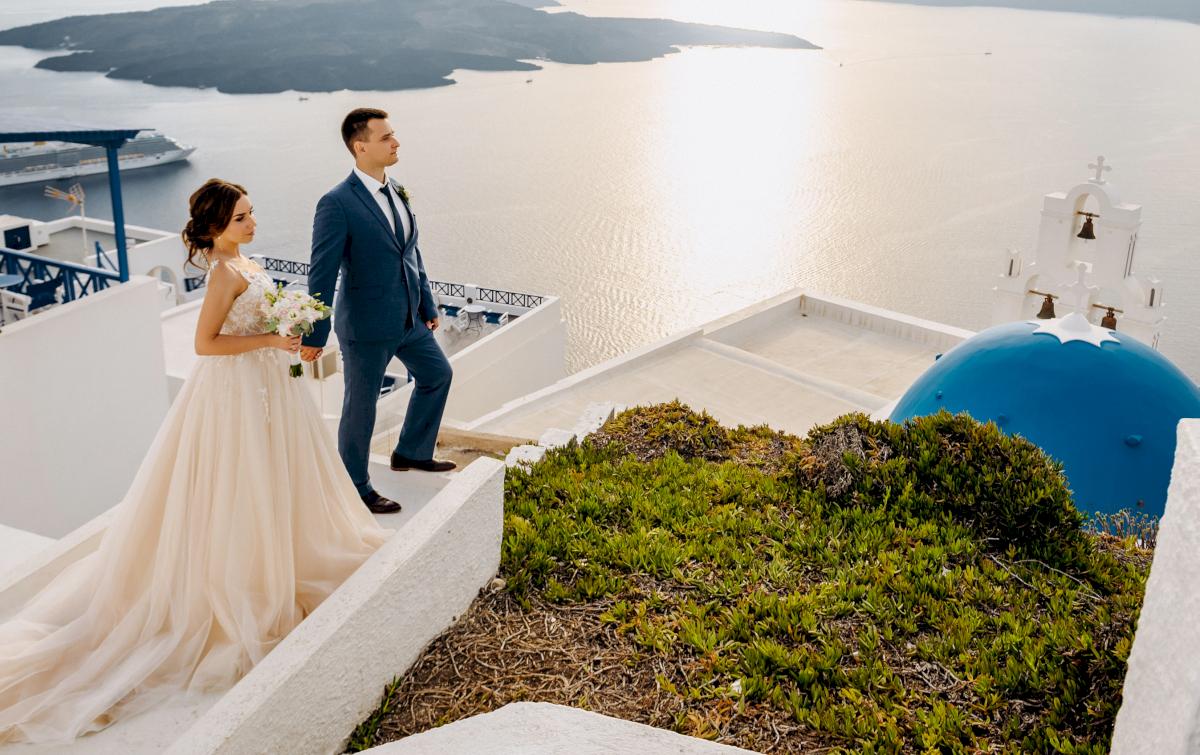 Юлия и Ярослав: свадьба на санторини, свадебное агентство Julia Veselova - Фото 7