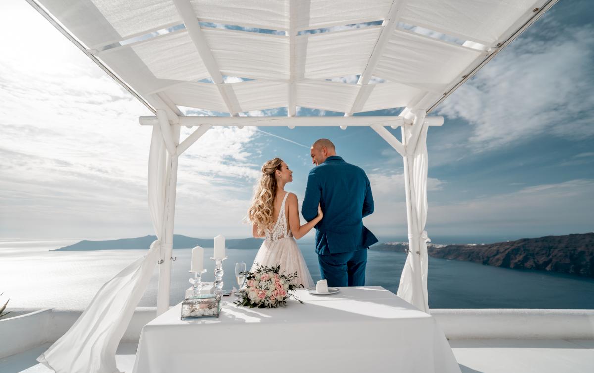 Екатерина и Артем: свадьба на санторини, свадебное агентство Julia Veselova - Фото 9