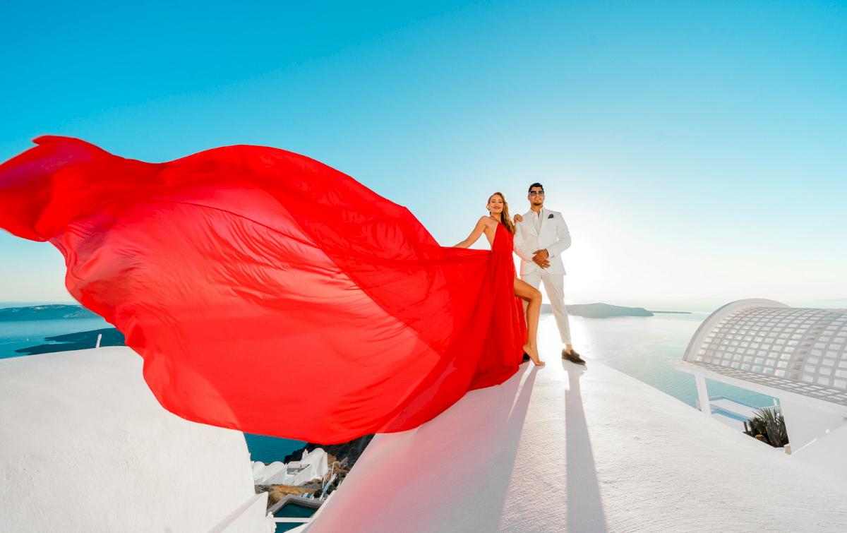 Фредди и Маргарет: свадьба на санторини, свадебное агентство Julia Veselova - Фото 7