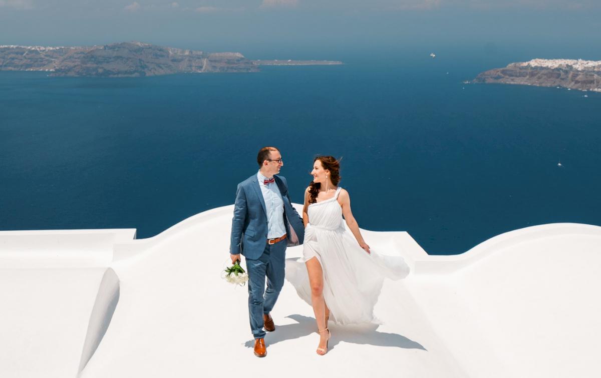 Ирина и Эдуард: свадьба на санторини, свадебное агентство Julia Veselova - Фото 1