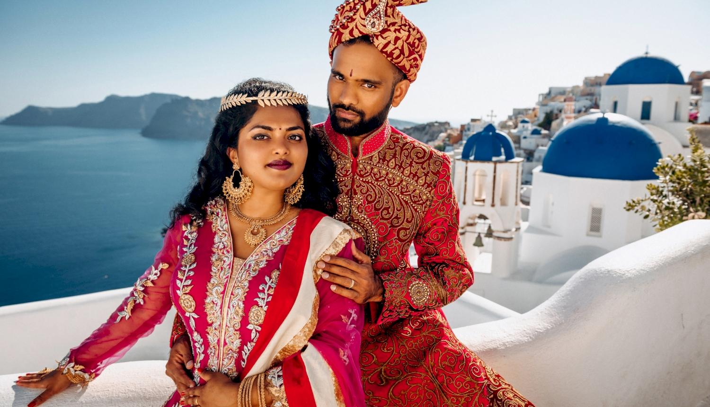 Deni and Kanshu: свадьба на санторини, свадебное агентство Julia Veselova - Фото 7