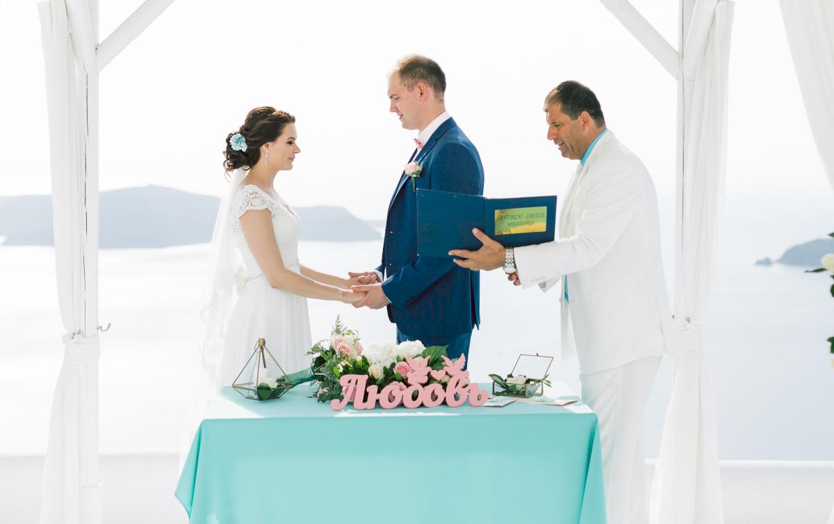 Татьяна и Леонид: свадьба на санторини, свадебное агентство Julia Veselova - Фото 1