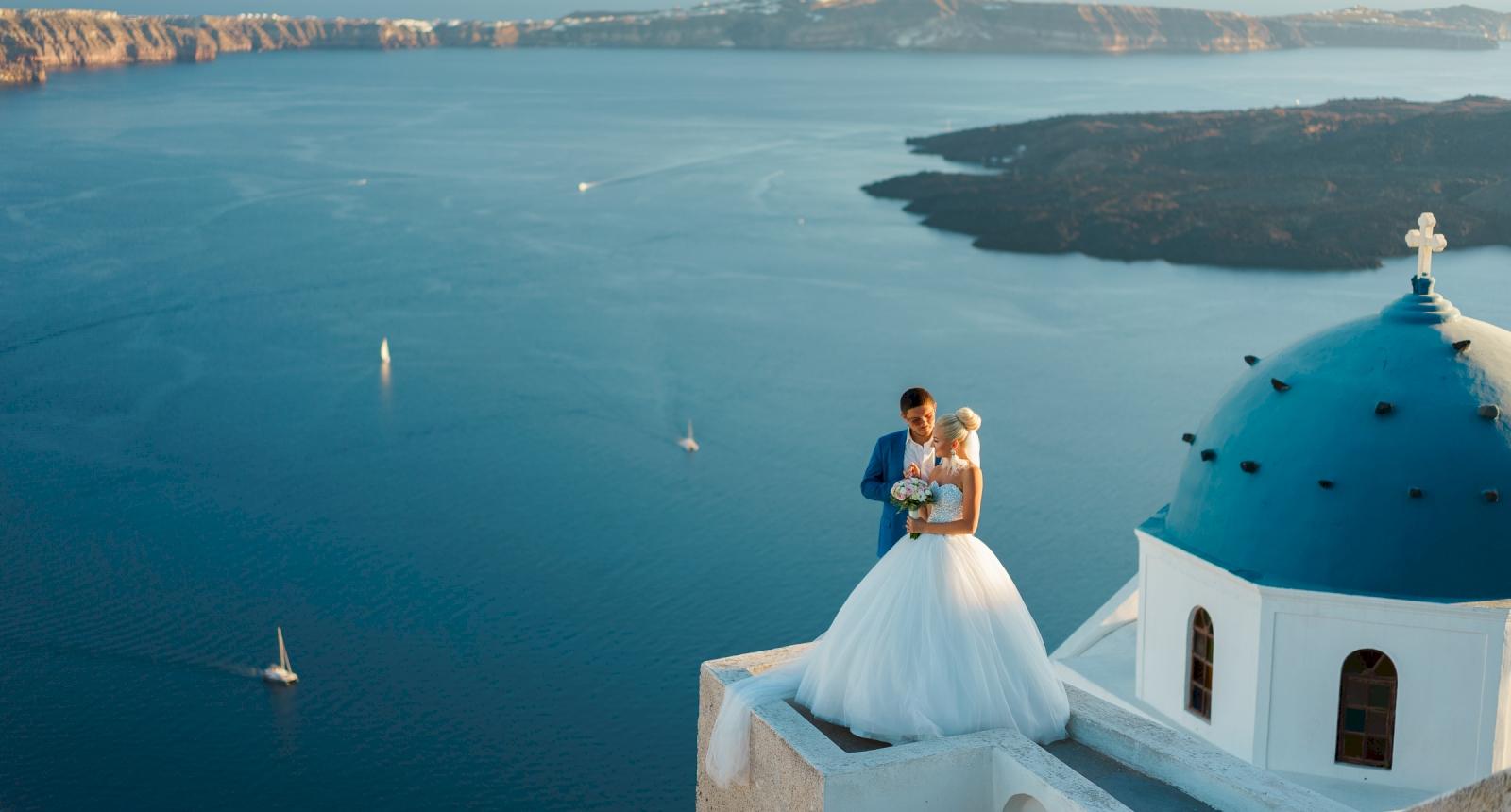 Екатерина и Дмитрий: свадьба на санторини, свадебное агентство Julia Veselova - Фото 4