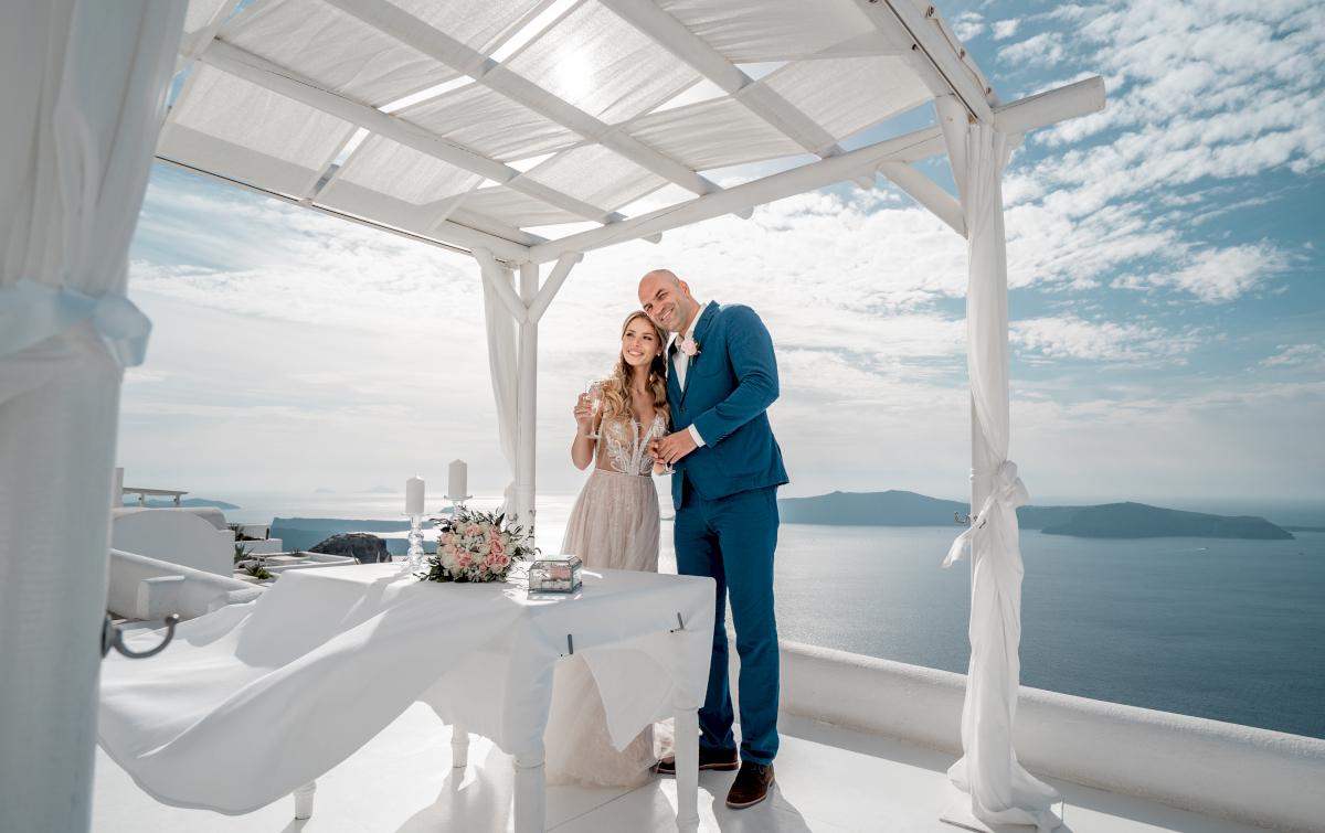 Екатерина и Артем: свадьба на санторини, свадебное агентство Julia Veselova - Фото 8