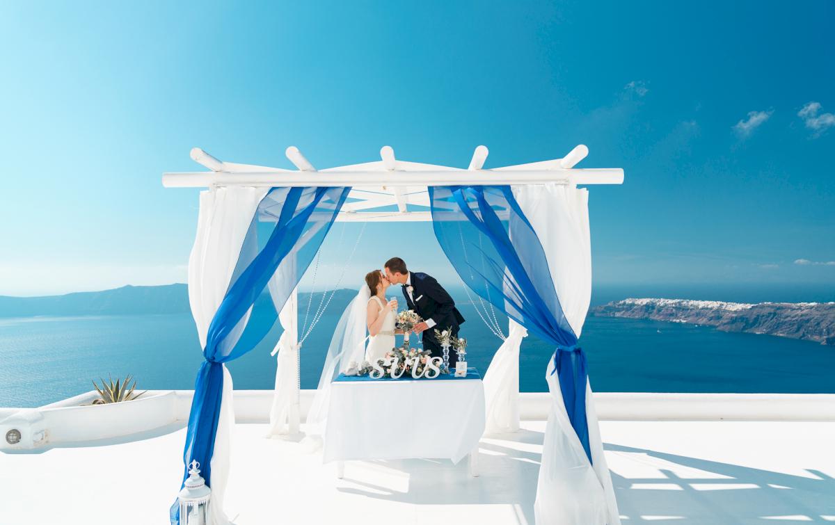 Виолетта и Александр: свадьба на санторини, свадебное агентство Julia Veselova - Фото 12