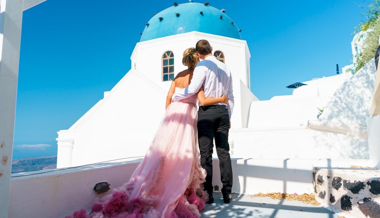Инна и Сергей: свадьба на санторини, свадебное агентство Julia Veselova - Фото 7