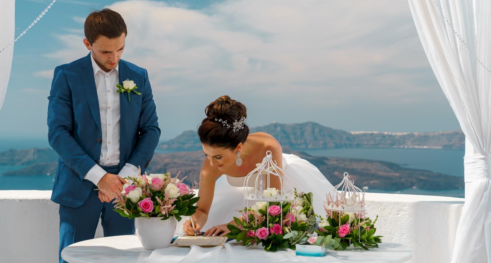 Яна и Денис: свадьба на санторини, свадебное агентство Julia Veselova - Фото 2