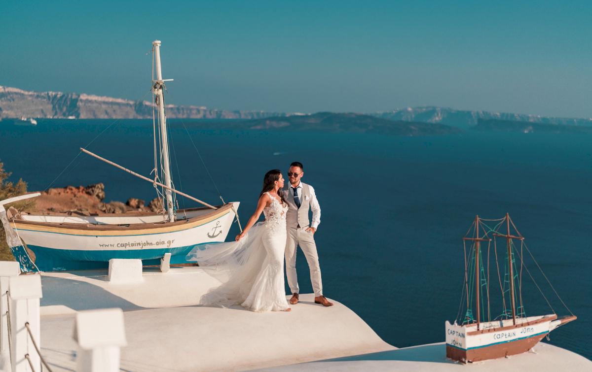 Яна и Рафаэль: свадьба на санторини, свадебное агентство Julia Veselova - Фото 15