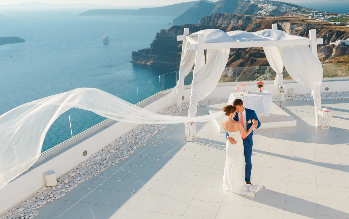 Алена и Рома: свадьба на санторини, свадебное агентство Julia Veselova - Фото 11