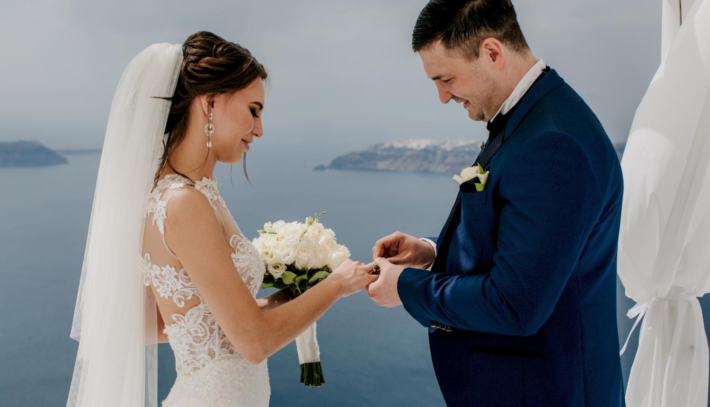 Юлия и Максим: свадьба на санторини, свадебное агентство Julia Veselova - Фото 6