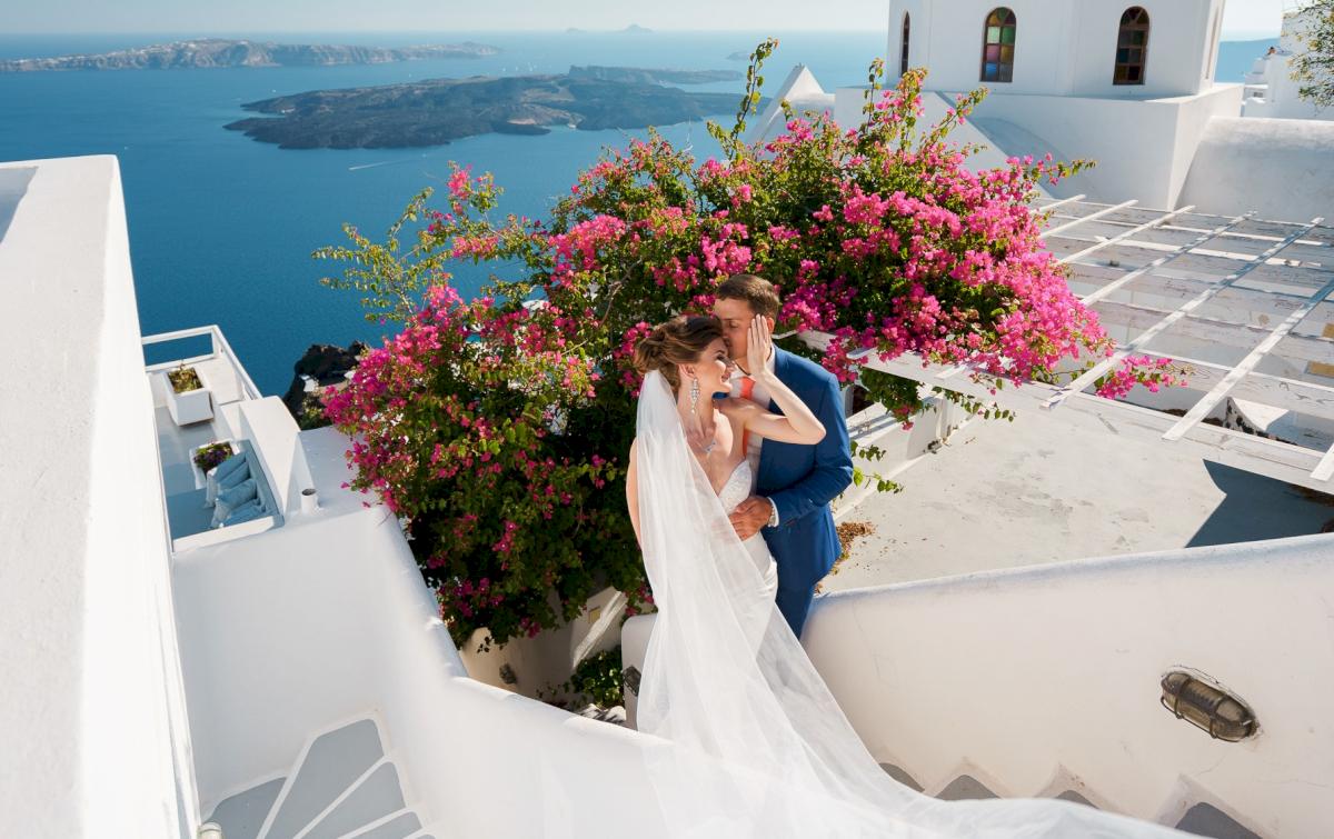 Алена и Рома: свадьба на санторини, свадебное агентство Julia Veselova - Фото 4